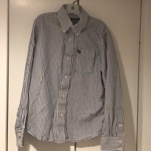 Abercrombie Preppy Striped Long Sleeve Button Down